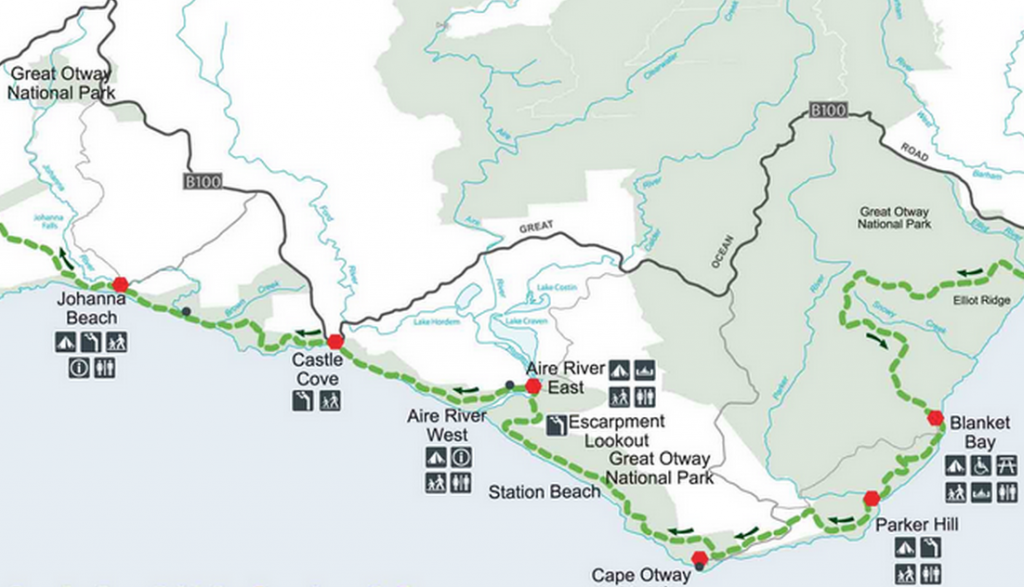 Great Ocean Walk Hiking Map 2