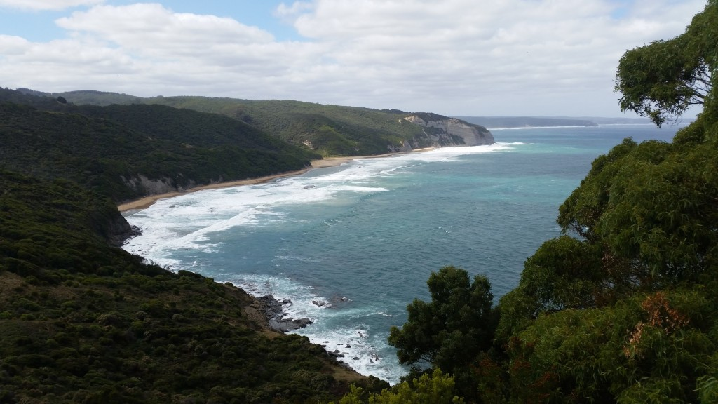 Looking back at Milanesia Beach - Great Ocean Walk